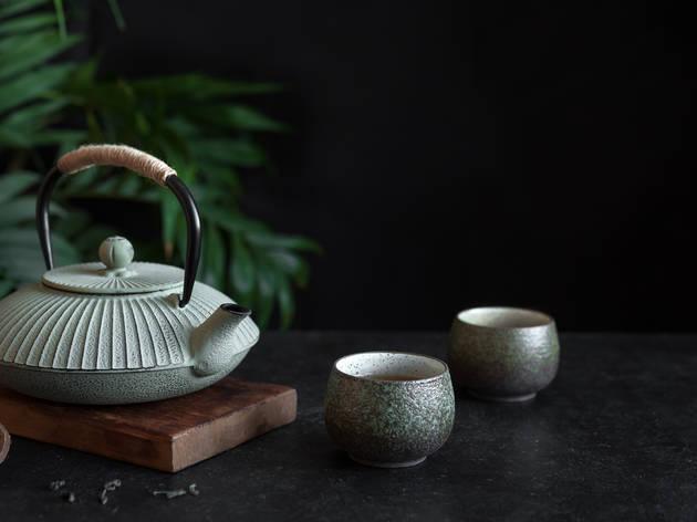 Japanese iron teapot