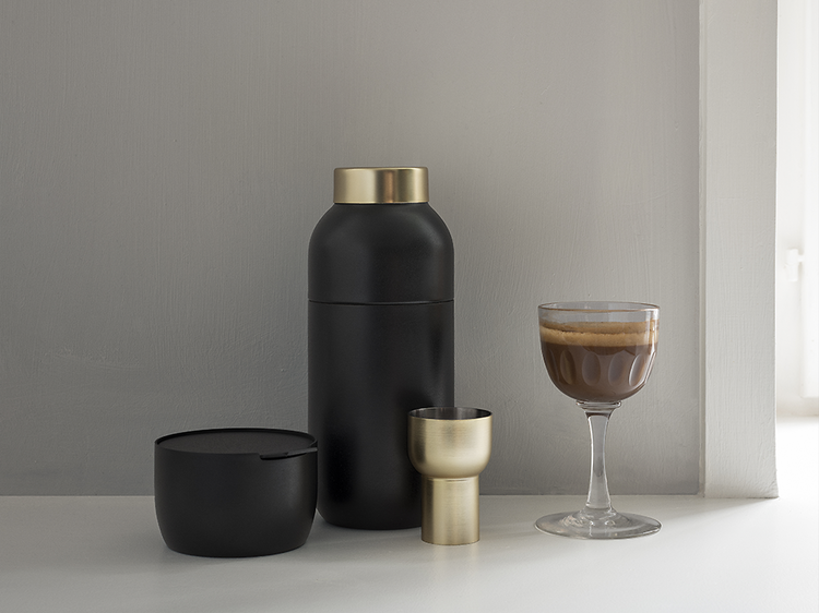 Stelton Collar Cocktail Shaker and Measuring Cup