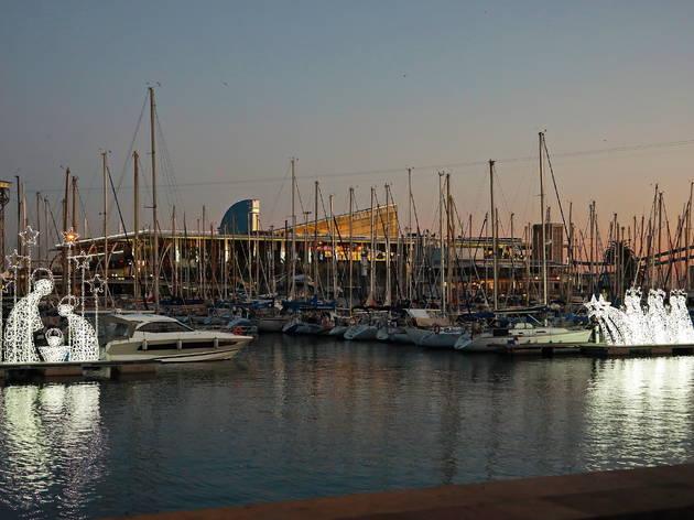Pessebre aquàtic de la fira Nadal al Port