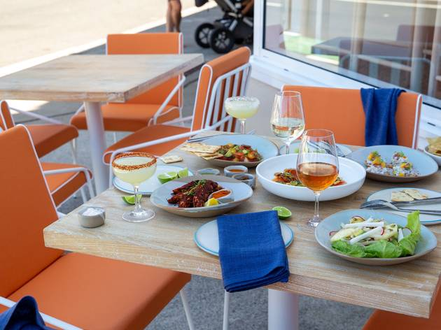 Table at Calita with food