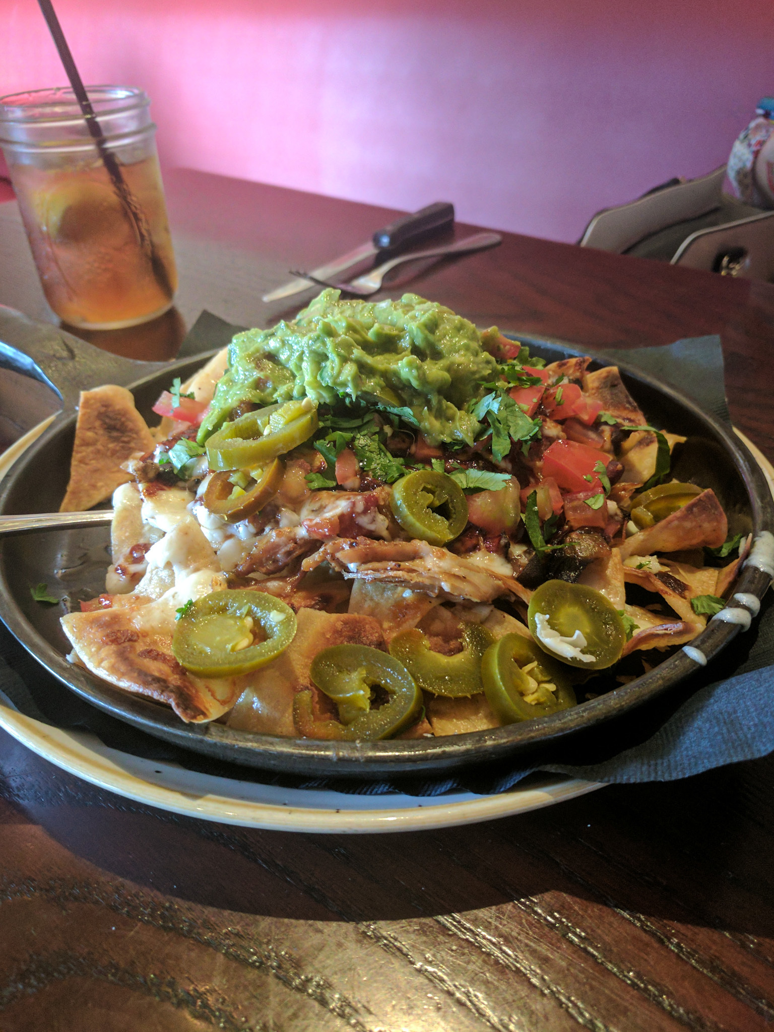 Pulled pork nachos from Gus's BBQ