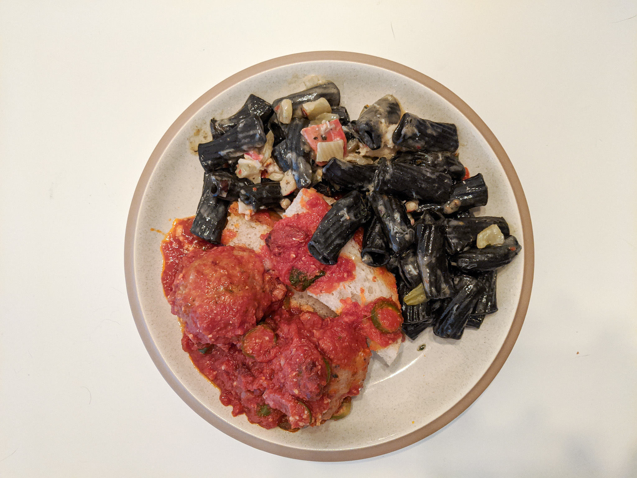 Squid ink lumache from Union