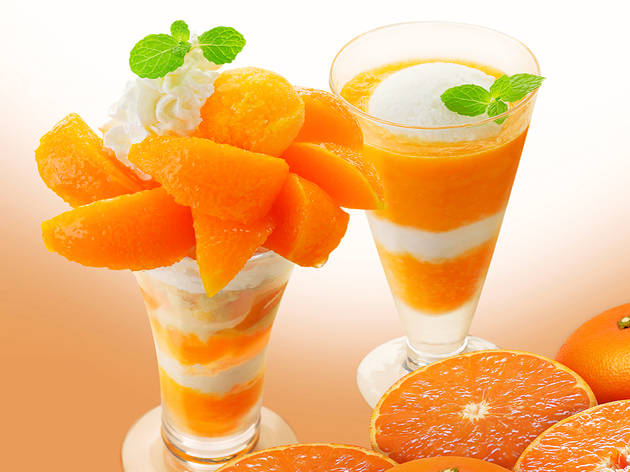 These parfaits and smoothies at Ginza Cozy Corner are made with very special mikan