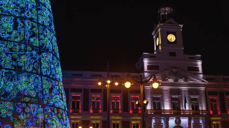 Reloj de la Puerta del Sol Madrid Navidad