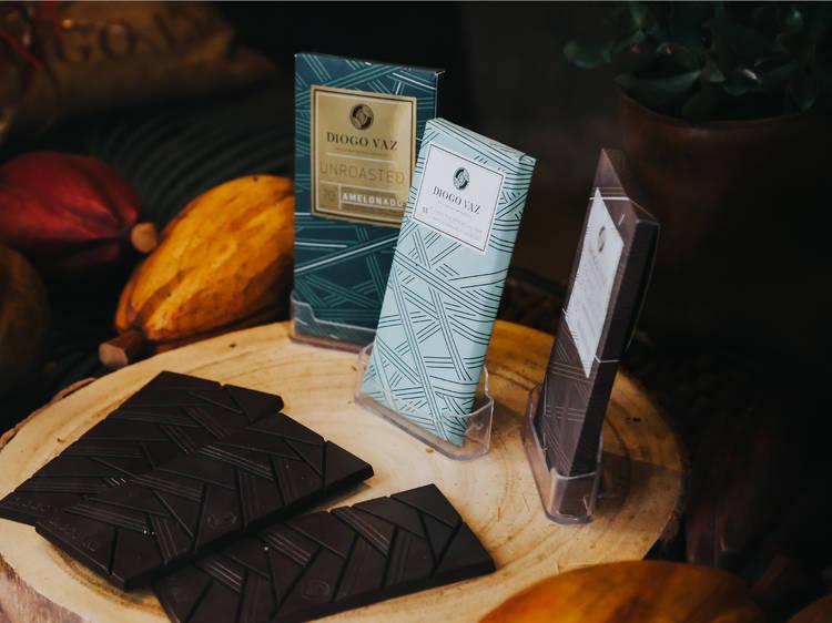 Chocolate negro com leite de coco da Diogo Vaz