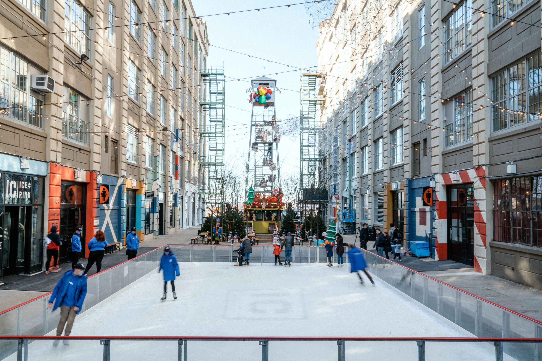 ice skating at industry city