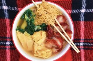 Hop Woo BBQ pork wonton noodle soup