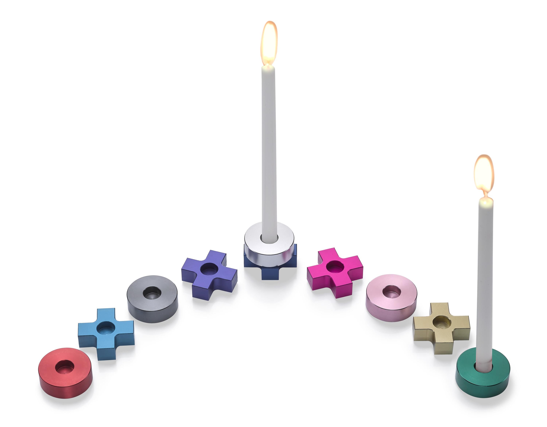 Jewish Museum Rainbow Tic Tac Toe Menorah