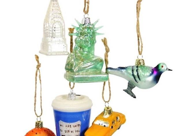 tiny NYC ornaments MCNY