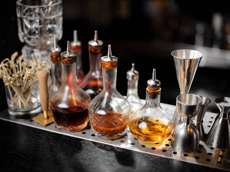 Mixers, syrups, and bitters