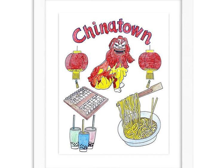 Chinatown NYC print