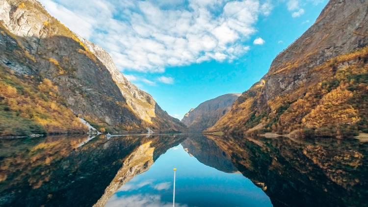 norway, fjord, sail, kayak