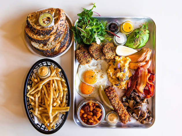Breakfast platter at Happyfield
