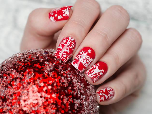 Christmas, nails