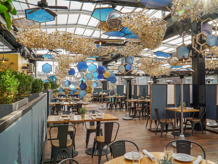 Dine inside Eataly's winter rooftop restaurant