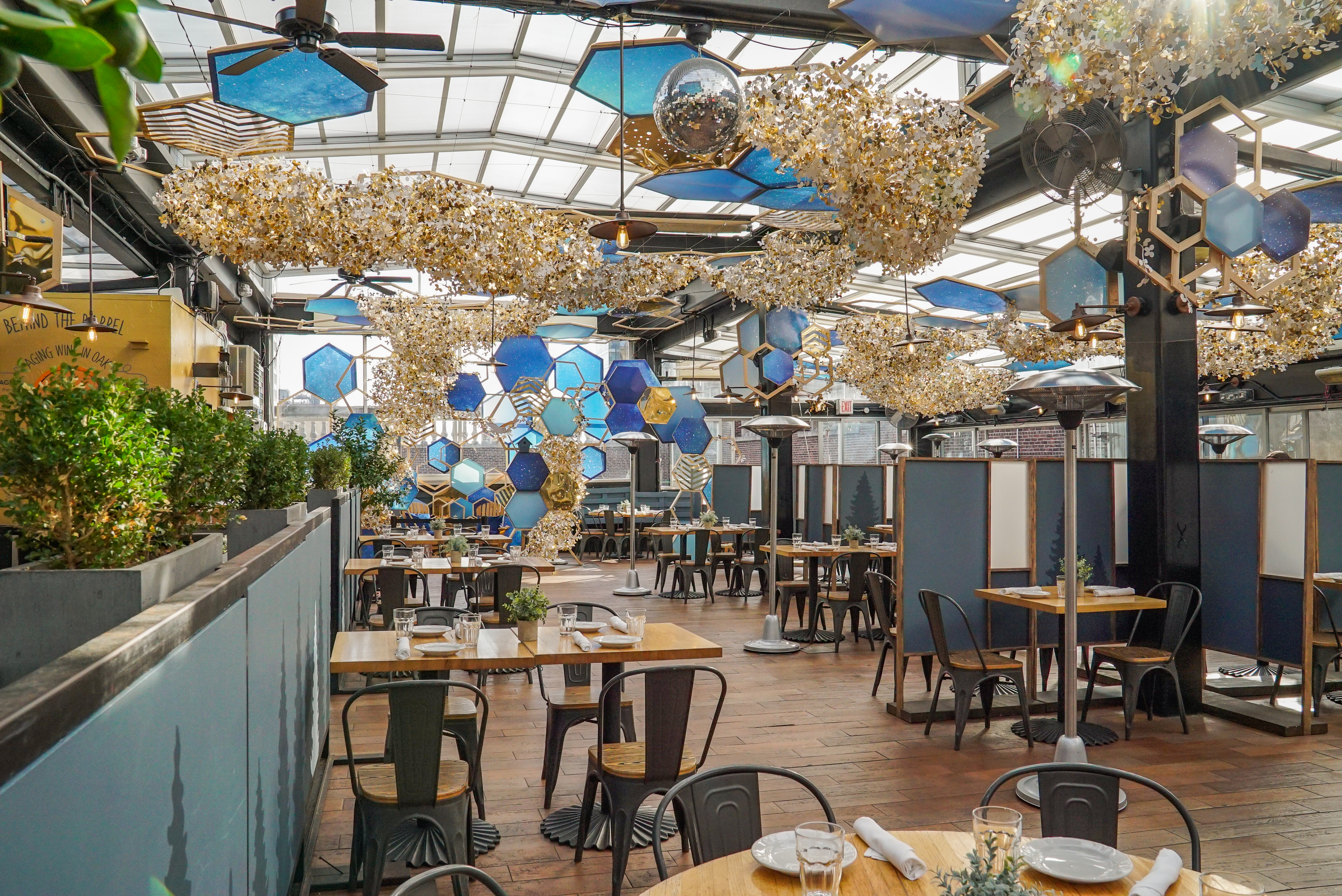 Here's an exclusive first look at Eataly's brand-new winter rooftop restaurant
