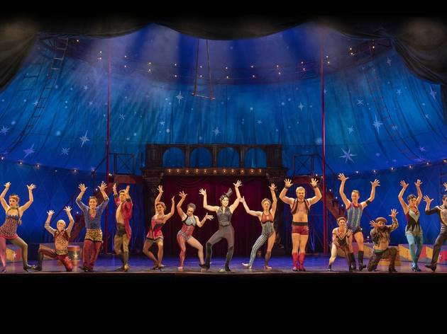 the cast of circus musical Pippin