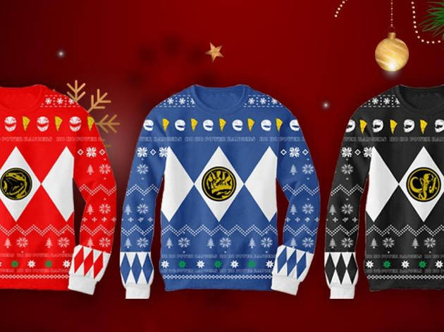 Ugly Sweater Power Rangers