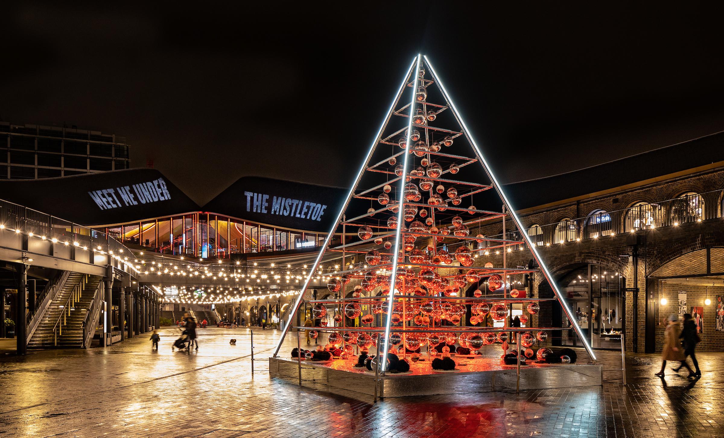 The Terrarium Tree, Coal Drops Yard, Christmas in King's Cross