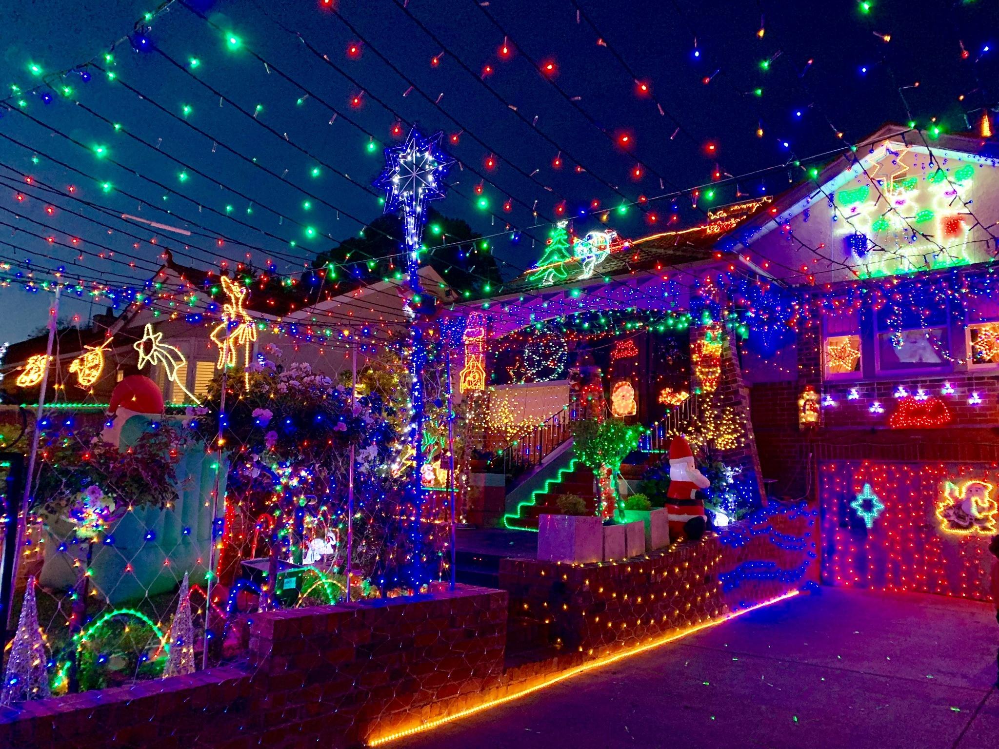 Christmas lights Camberwell 2020