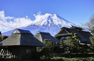 Mt Fuji as seen from Oshino Hakkai