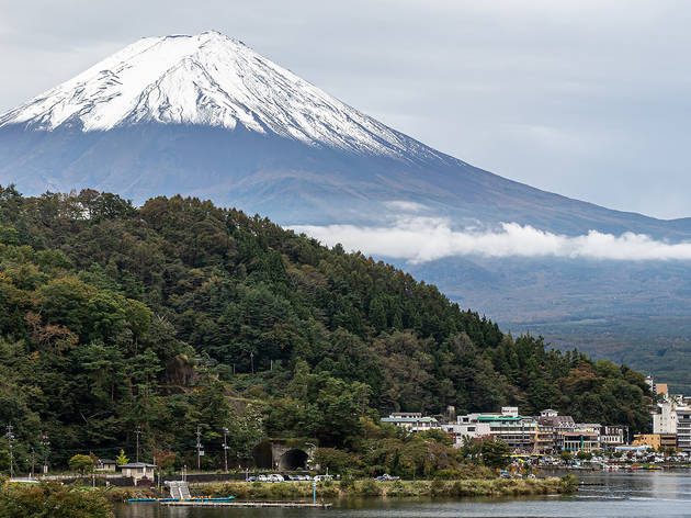 Mt Fuji as seen from Lake Kawaguchiko
