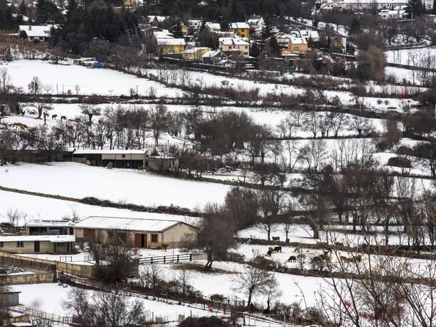 Cercedilla en invierno con nieve