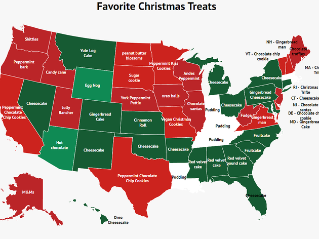 Favorite Christmas treats across each state