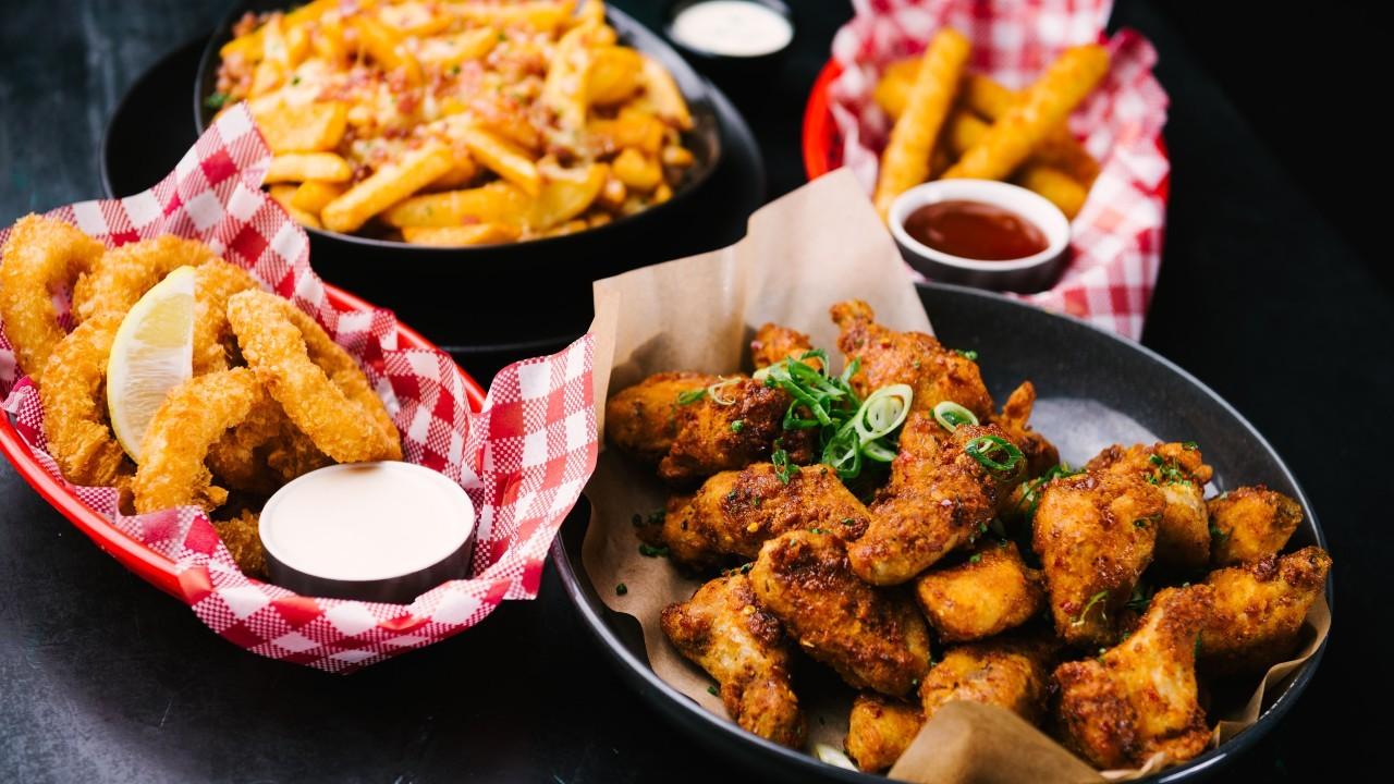 Buffalo wings and deep-fried southern food