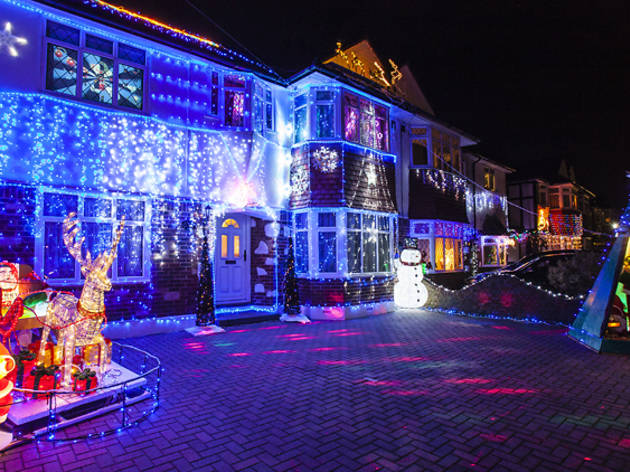 Check out this year's lights on London's most Christmassy street