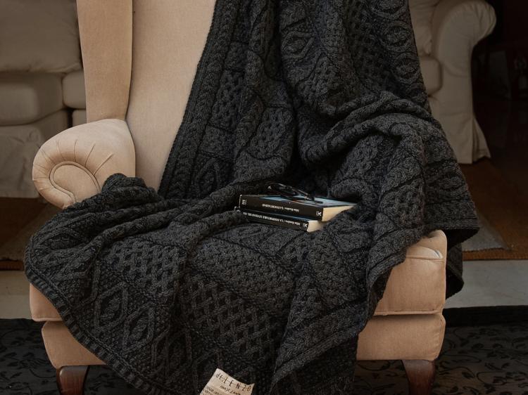 Manta de lana 100% merino dE.Lenzo