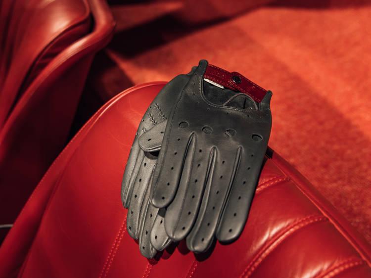 Guantes Café Leather