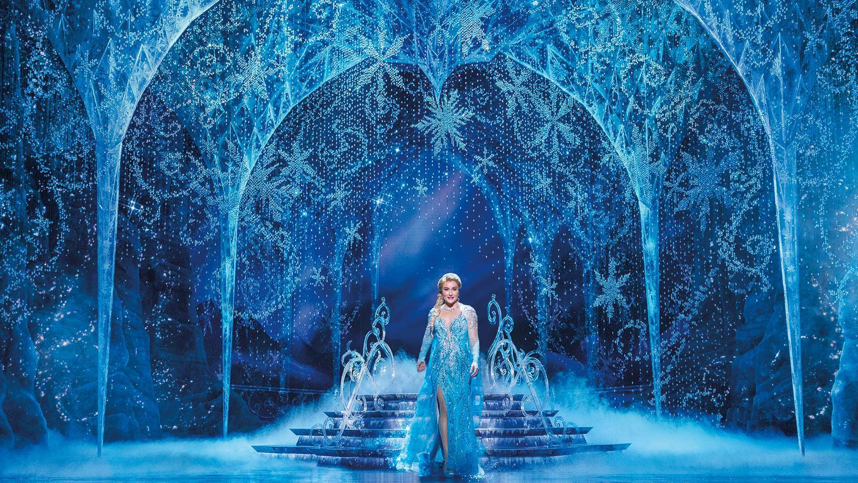 Jemma Rix as Elsa in Frozen the Musical