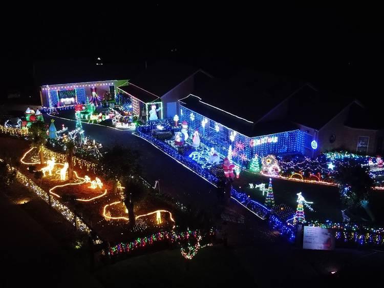 Christmas lights around the suburbs