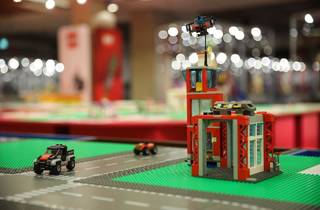 Exposição de peças Lego