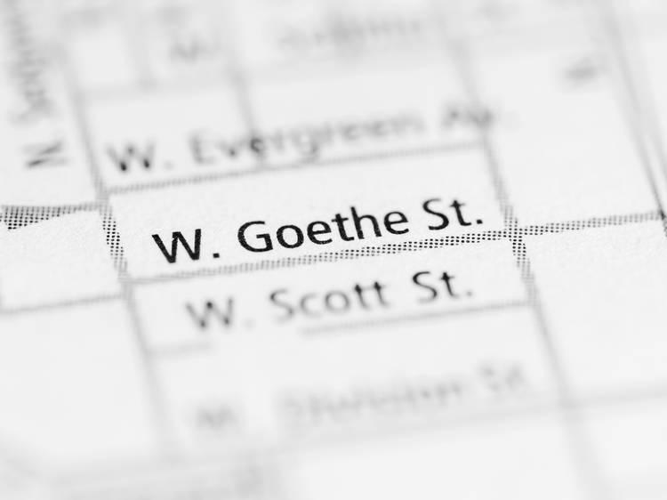 How do you pronounce Goethe Street?