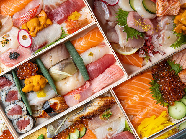 Sunset Sushi bento and nigiri in Silver Lake