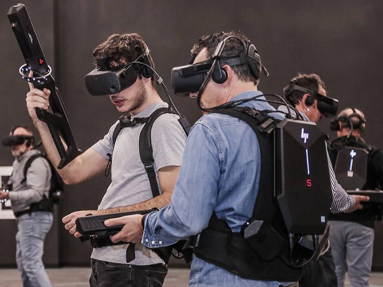 Sesión de juegos virtuales en Virtual Arena