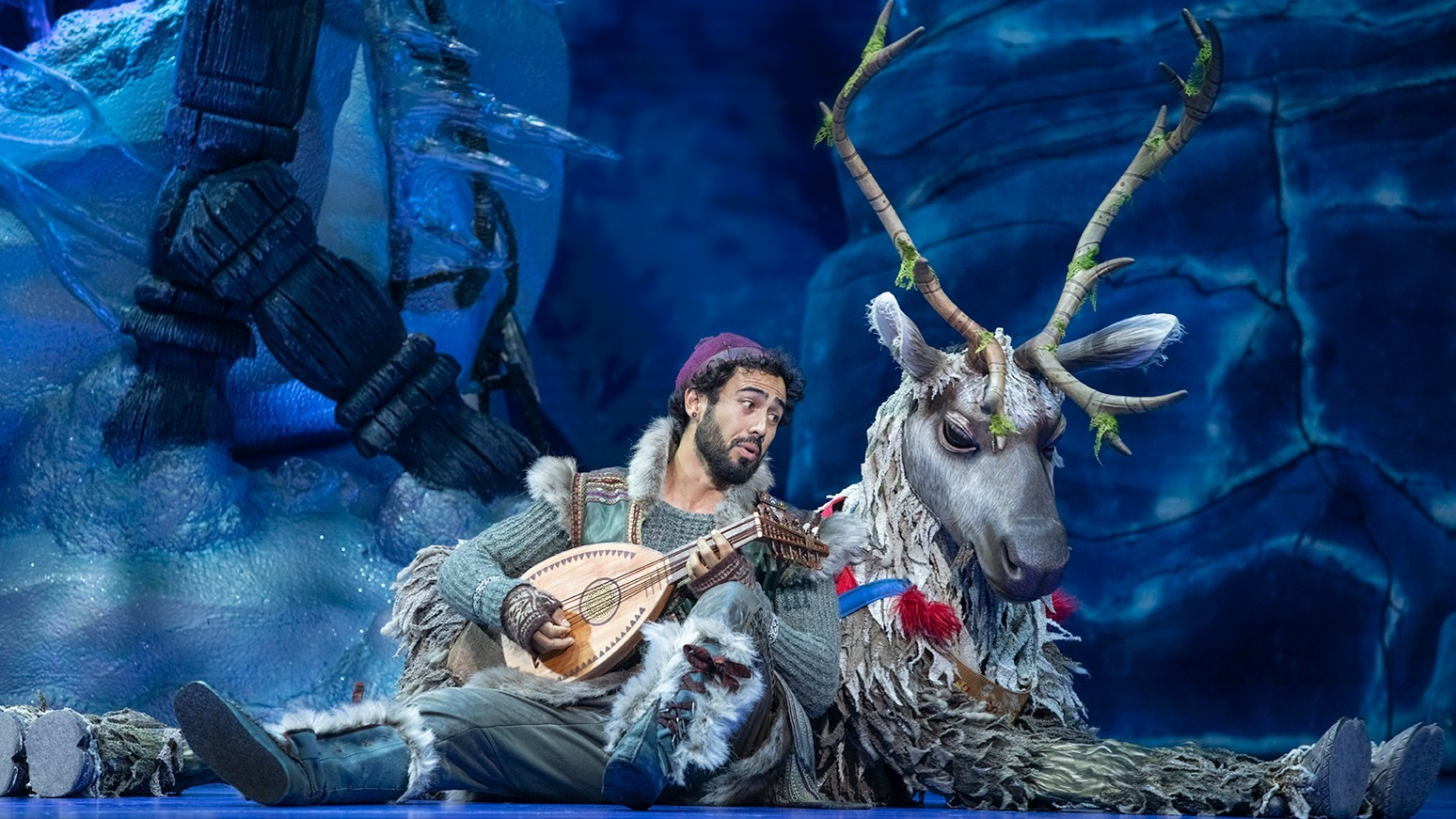 Kristoff and Sven in Austalian production of Frozen the Musical