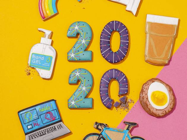 biscuiteers, 2020, scotch eggs, hand sanitiser, rainbows, bikes, zoom