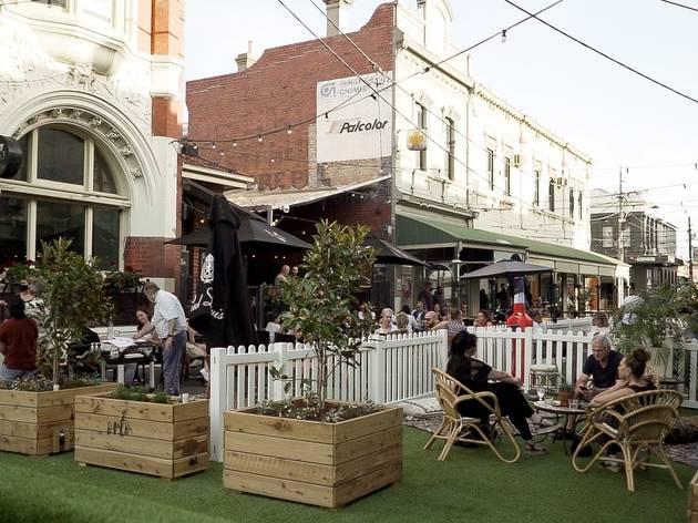 Melbourne inner west outdoor dining