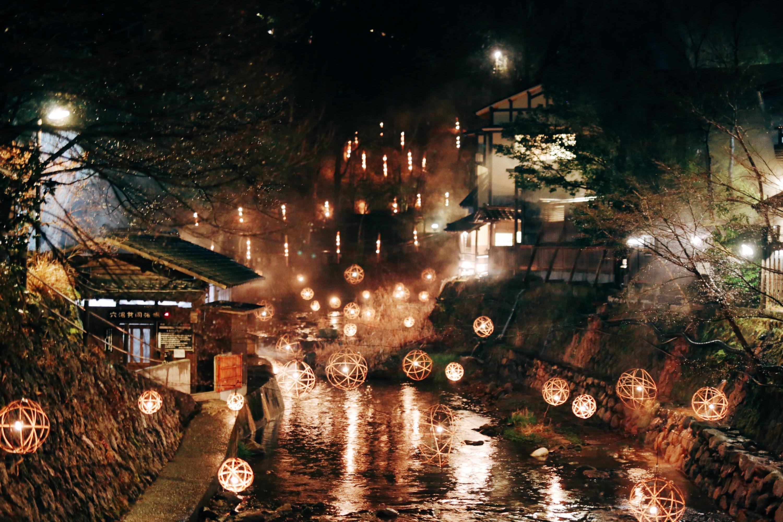 今年もうっとり、黒川温泉のライトアップイベントが開催