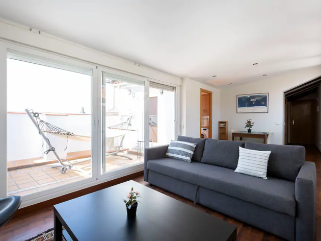 Airbnb madrid, hamaca