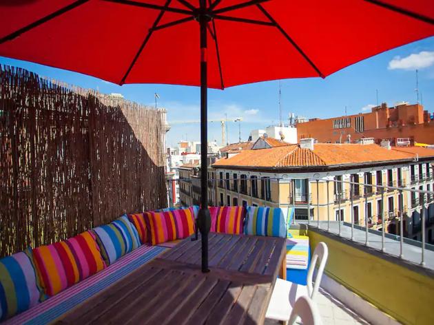 Airbnb madrid, azotea