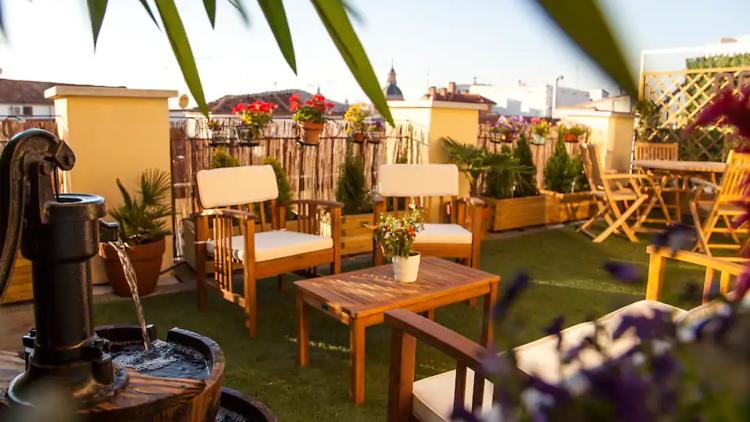 Airbnb madrid, superterraza