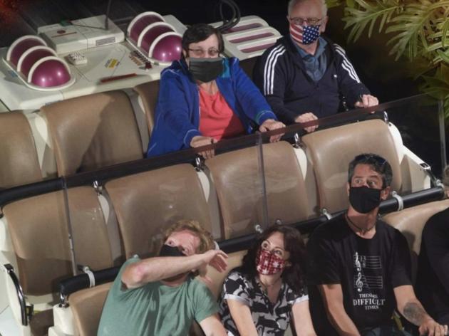 Disney World photoshops masks on people