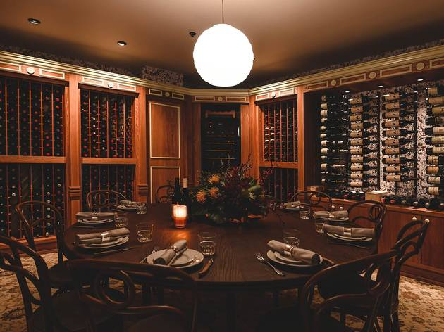 The Gidley wine room (Photograph: The Gidley/Dominic Loneragan)