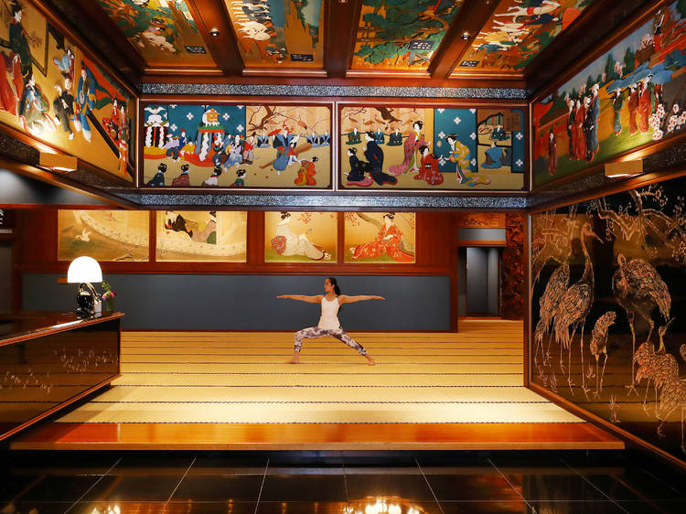 Do yoga amongst Japanese art at Hotel Gajoen Tokyo