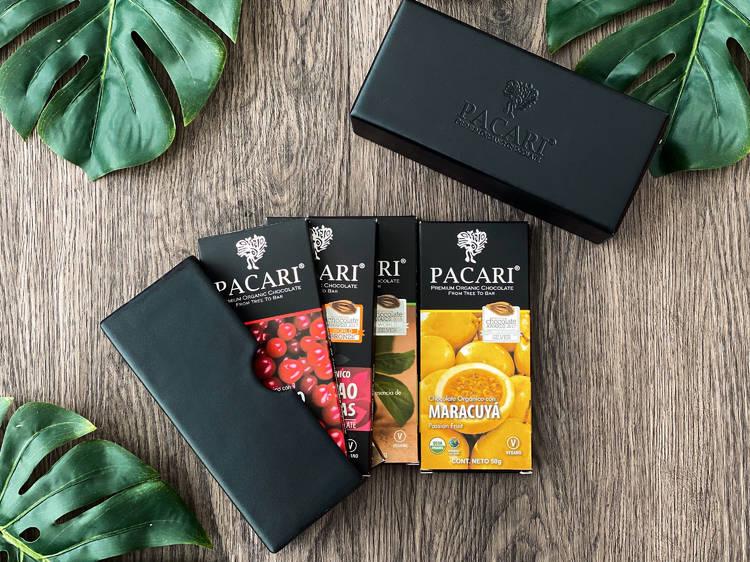 Caja deluxe de chocolates Pacari