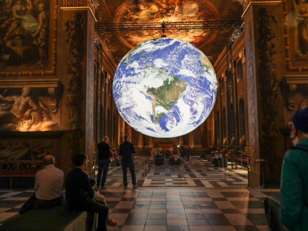 Gaia, Luke Jerram, Painted Hall Greenwich